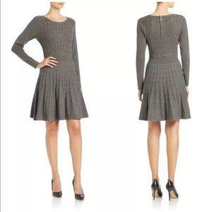 ELIZA J Cableknit Fit & Flare Dress - Sz: M